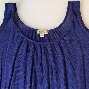 One World | Blue Cold-Shoulder Top | Size XL